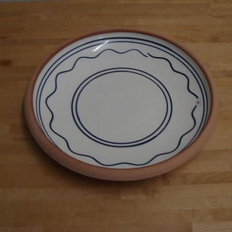 Flad serveringsfad, Ø.32 cm