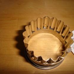1 stk. udstikkerform med bøjlet kant Ø 6,5 cm