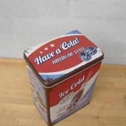 Cola opbevaringsdåse str, L