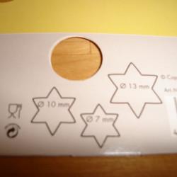 3 stk, Udstikkerform, stjerner