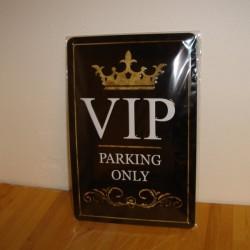 VIP Parking - Blikskilt 20 x 30 cm