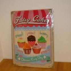 Fairy Cakes - Blikskilt 30 x 40 cm