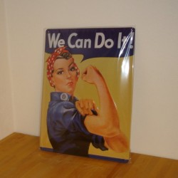 We can do it - Blikskilt 30 x 40 cm
