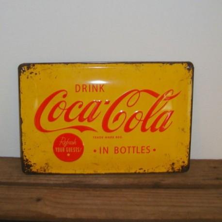Metal skilt - Drink Coca-Cola.