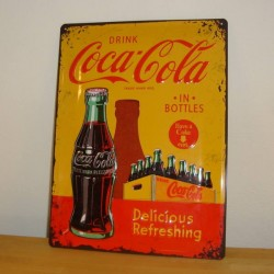 Metal skilt, Coca-Cola