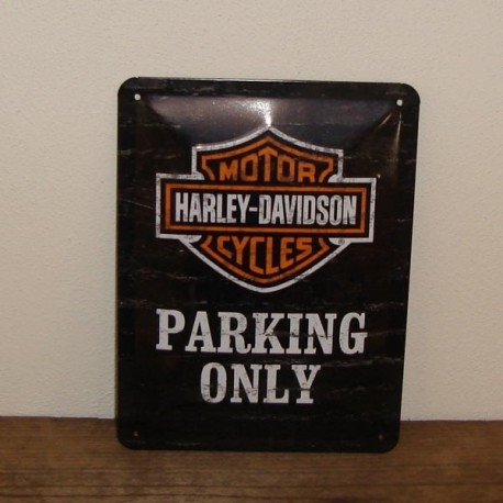 Metal skilt, Parking only
