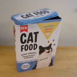 Cat food - Metal dåse til opbevaring