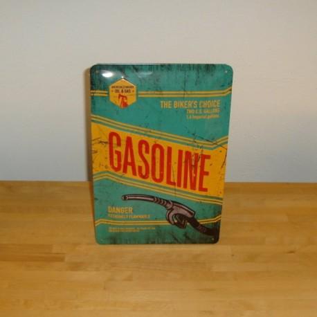 Metal skilt, Gasoline