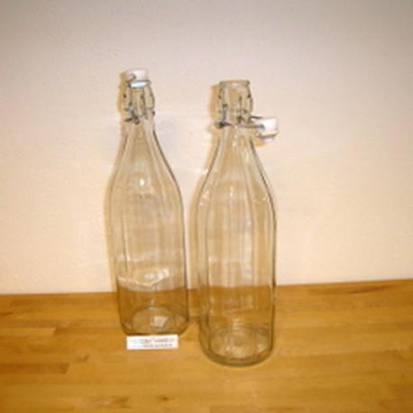 1 liters patent flaske, glas