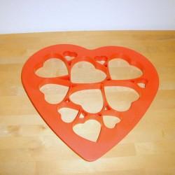 Udstikkerform, 12  hjerter ved et tryk.