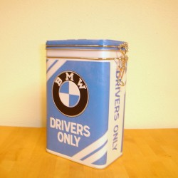 BMW ,Drivers only, dåse med patentlukning