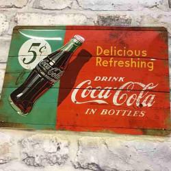 Coca cola metalskilt
