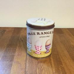 Rund dåse - free range egg