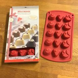 chokoladeform i silikone, trio
