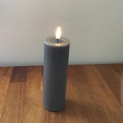 LED Bloklys grå - 15 cm, ø...