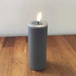 LED bloklys 12,5 cm Grå, Ø...