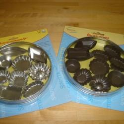 chokoladeforme i hvidblik, 36 stk.