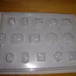 chokoladeform med 7 forskellige forme