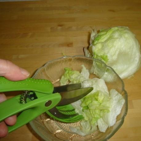 Salatsaks med 2 skær