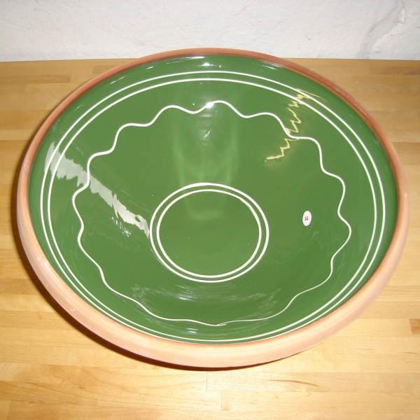Grøn m. buet mønster