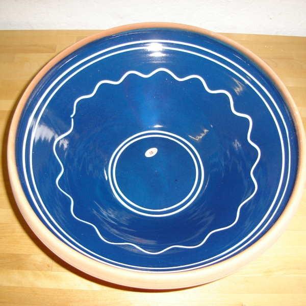 Blå, buet mønster